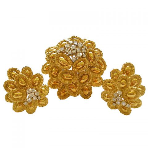 18k-gold-and-diamond-brooch-and-ear-clips-french-c-1960-1
