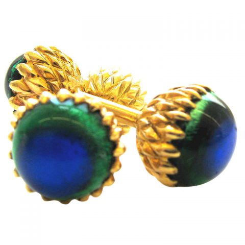 A-Pair-of-Gold-and-Glass-Cufflinks-1