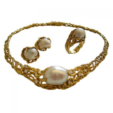 A Suite of South Sea Pearl Jewelry by Arthur King, c1970-1