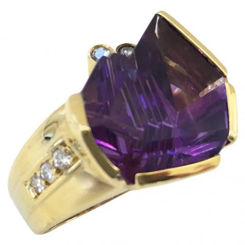 Amethyst_Diamond_Ring