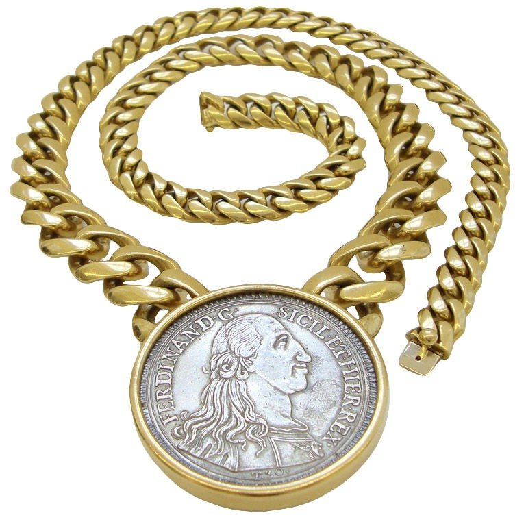 Bulgari 18k gold and coin necklace circa 1970 kimberly bulgari mozeypictures Image collections
