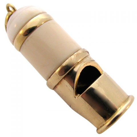 CARTIER, 18k Gold and Ivory Taxi Whistle, c1970-1