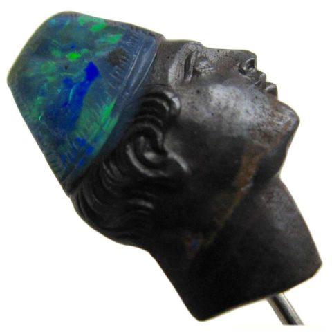 Carved_Boulder_Opal_Blackamoor_Antique_Stickpin