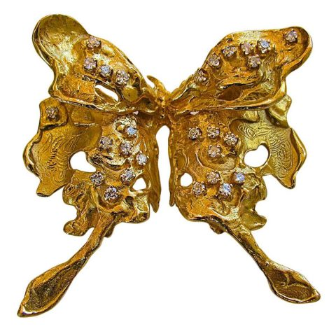 Diamond_and_Gold_Butterfly_Brooch