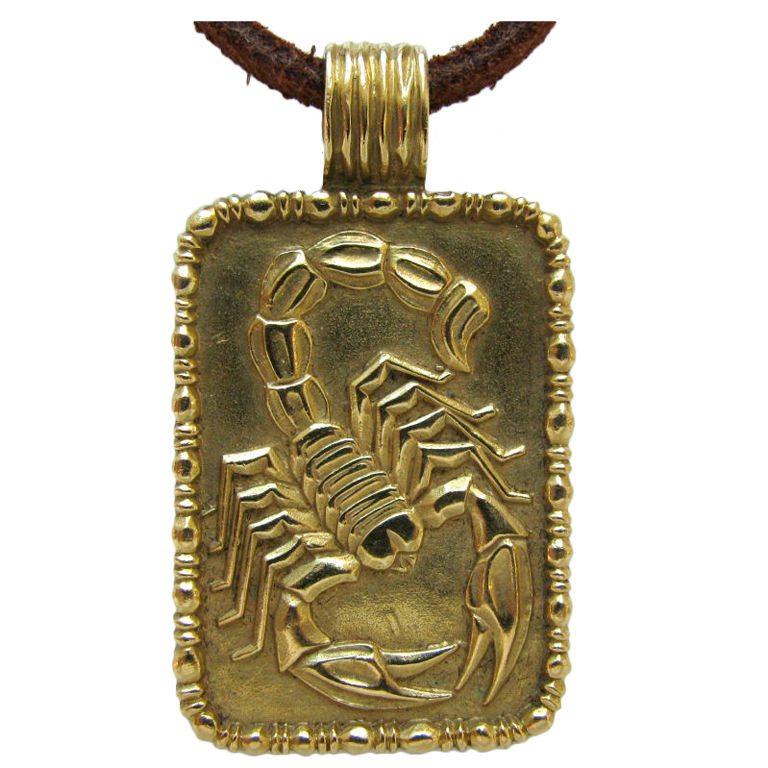 Fred of paris a gold scorpion pendant c 1970 kimberly klosterman fred of paris a gold scorpion pendant mozeypictures Images