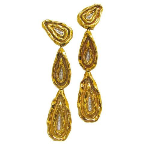 Four_Inch_Long_Diamond_Gold_Earrings