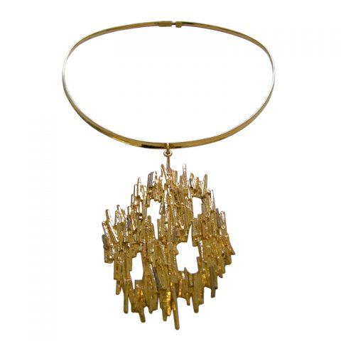 Gold-Choker-and-Pendant-c1960-1
