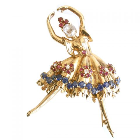 Gold-Diamond-and-Gemstone-Dancer-Brooch-1