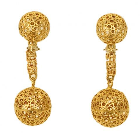 Gold-Drop-Earrings-Signed-1