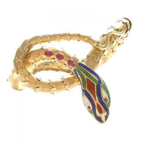Gold-Enamel-and-Ruby-Bracelet-circa-1960-1