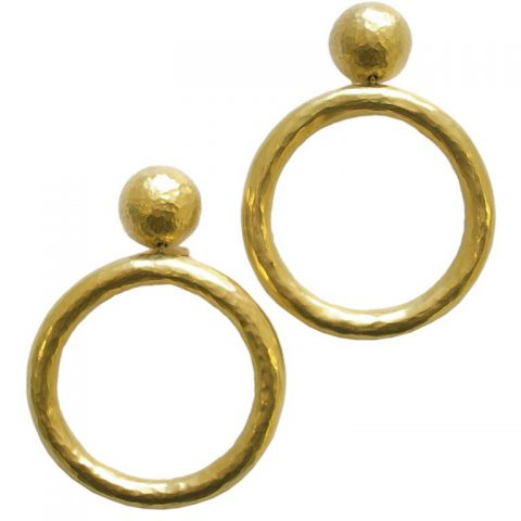 Gold Hoop Earrings by Paloma Picasso for Tiffany Italy,1989-1
