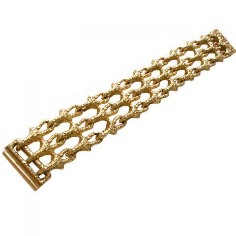 Gold-Link-Bracelet-French-c1970-1