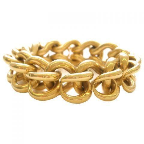 Gold-Link-Bracelet-by-Van-Cleef-and-ArpelsFrance-circa-1960-1