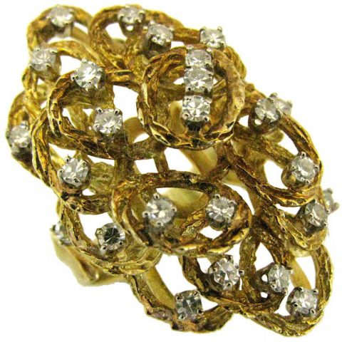 Gold_and_Diamond_Ring_Italy_Circa_1960