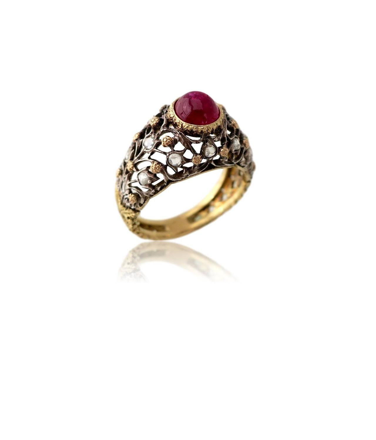 buccellti gold and ruby ring circa 1960