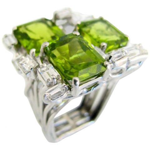 Modernist_Peridot_and_Diamond_Cocktail_Ring