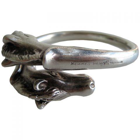 Sterling-Horse-Bangle-Bracelet-by-Hermes-1