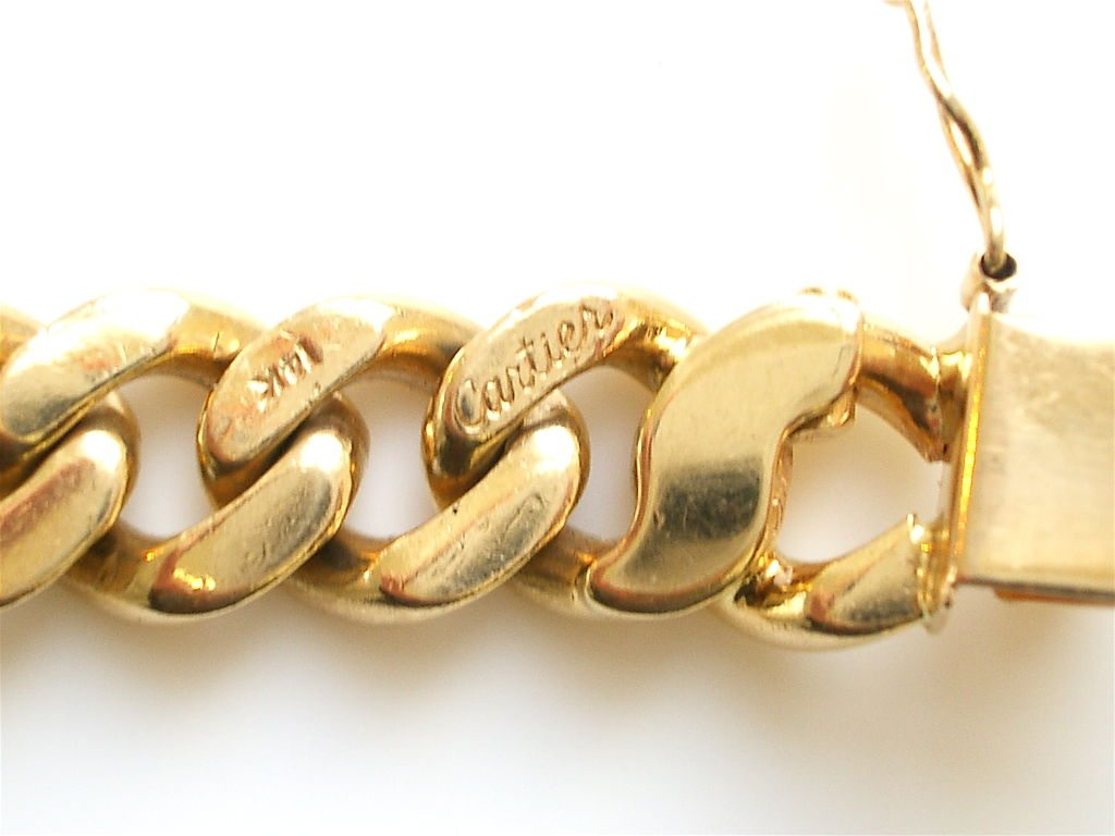Gold And Diamond Link Reversible Bracelet By Cartier C1960