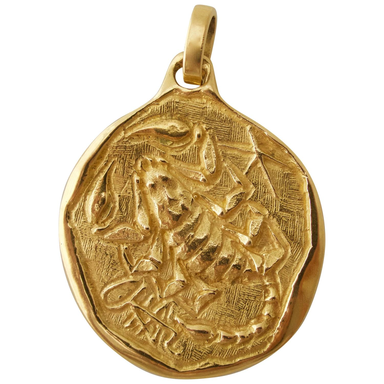 Scorpio Zodiac Pendant Italian Circa 1970 Kimberly