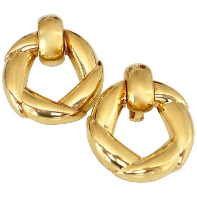 eb1a66d93 Vintage Cartier Gold Door-Knocker Earrings – Kimberly Klosterman Jewelry